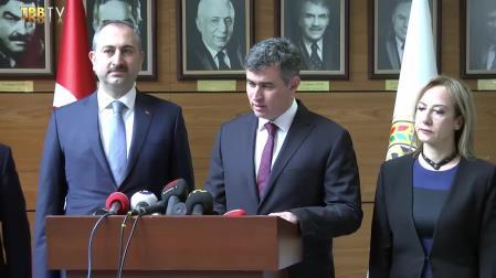 Adalet Bakanı Abdulhamit Gül'ün TBB'yi Ziyareti